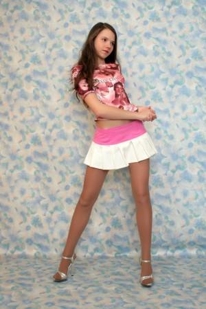 Model stockings sandra teen early